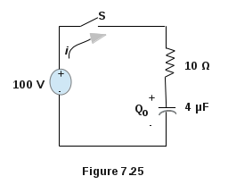 First Order Resistor Capacitor Series Circuit